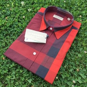 new BURBERRY LONDON ENGLAND SHIRT %100 COTTON